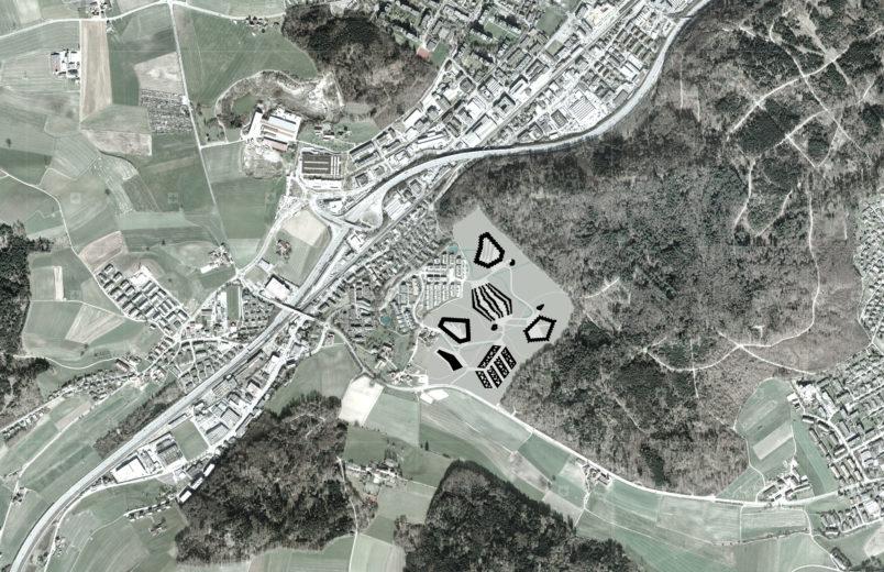 Planungsperimeter mit Projekt