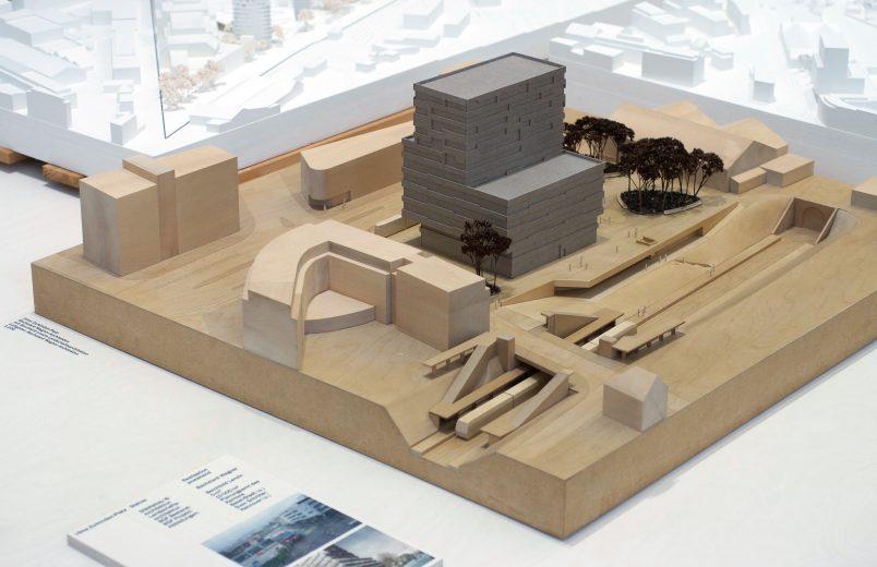 Modell Hochhaus und Umgebung