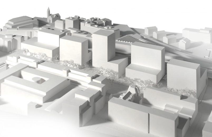 Modell mit Neubauten 2. Etappe