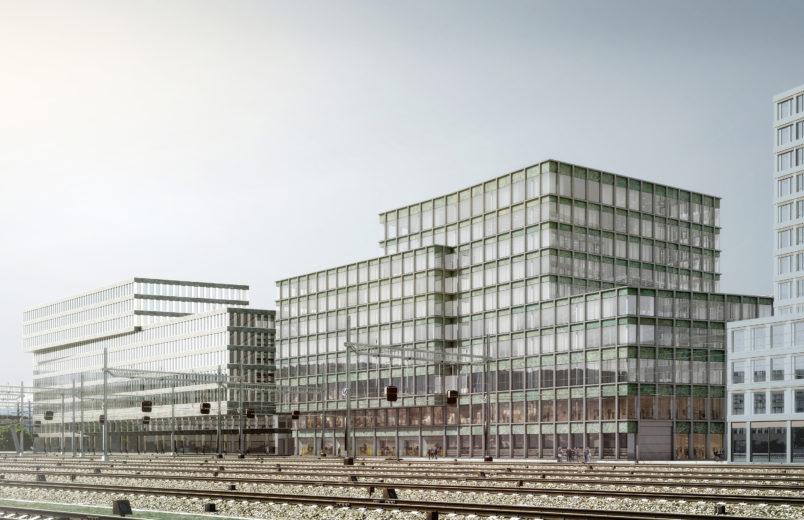 Visualisierung Fassade zu den Gleisen