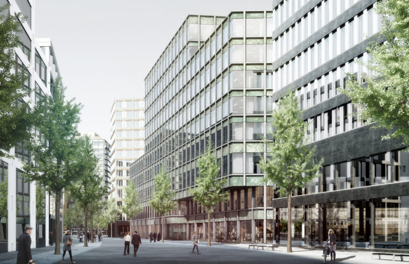 Visualisierung Fassade zum Quartier