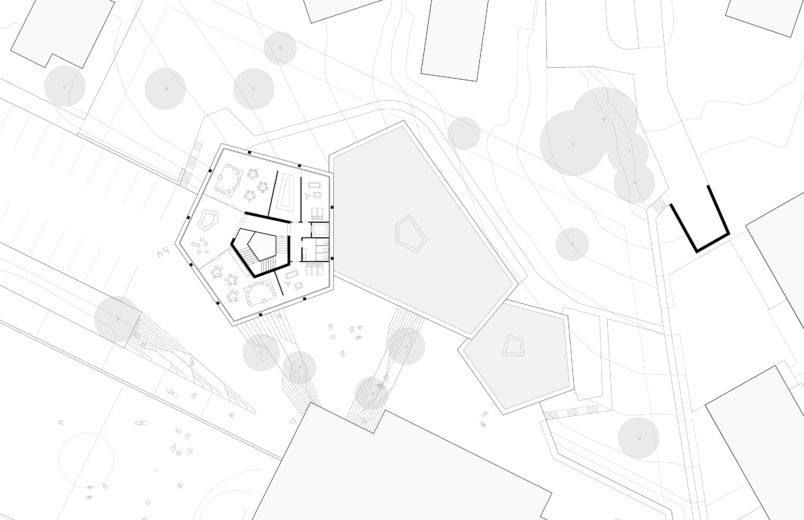 Grundriss Level 3 (Oberes Gebäude)