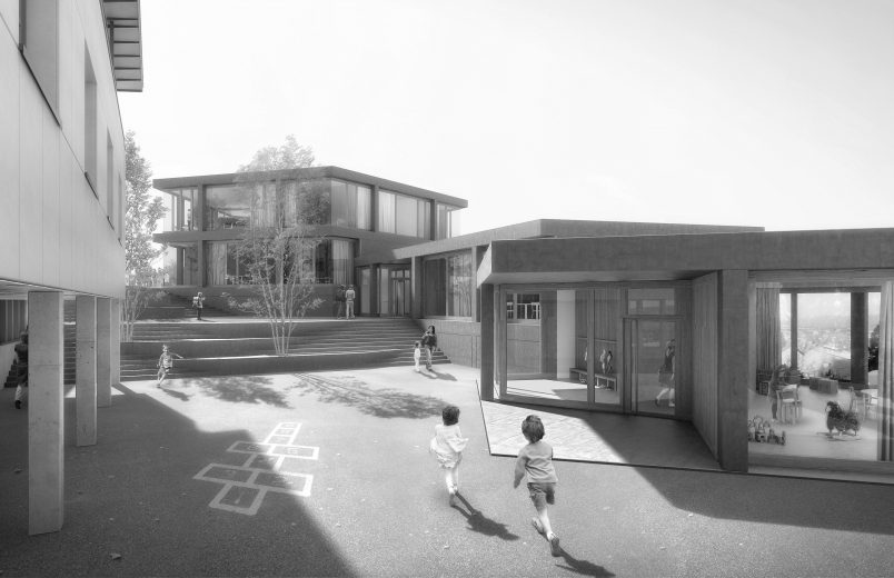 Visualisierung neue Schulgebäude
